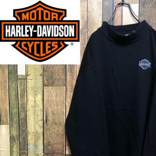 Harley Davidson - 【激レア】ハーレーダビッドソン☆バック刺繍ロゴ入りハイネックロンT