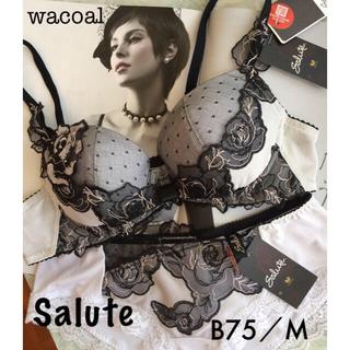 ワコール(Wacoal)の【新品タグ付】wacoal/SaluteサルートB75M(ブラ&ショーツセット)