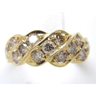 お値引き不可 K18 合計1.00ct 天然 ダイヤモンド リング(リング(指輪))
