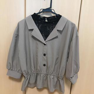 しまむら - 開襟レイヤードプルオーバー  5分袖