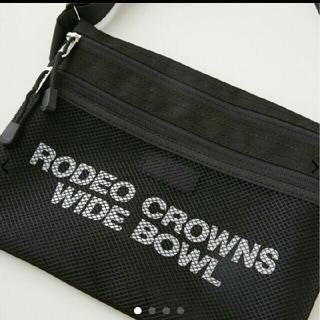 RODEO CROWNS WIDE BOWL - ★ロデオクラウンズ★新品タグ付き☆メッシュサコッシュ黒