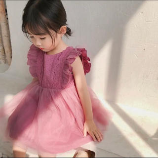 tulle lace onepiece dress♡80.90.100.110(ワンピース)