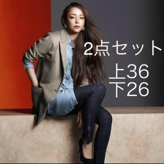 エイチアンドエム(H&M)の安室奈美恵、H&M、アムラー、2点セット、韓国、海外、デニムズボン、(ミュージシャン)