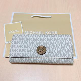 Michael Kors - 【新品】最新作★ マイケルコース 長財布 バニラ ホワイト