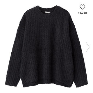 GU - GU モールフェザーヤーンオーバーサイズセーター(長袖) 美品