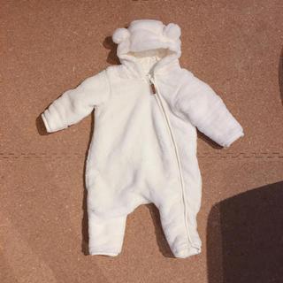 H&M - H&M ベビーフリースロンパース くま50cm新生児