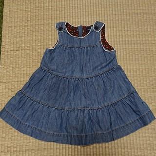 ベビーギャップ(babyGAP)のデニム ジャンパースカート babyGAP(ワンピース)