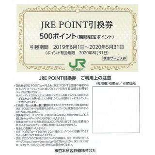2枚■JRE POINT■JREポイント500円分■JR東日本株主優待