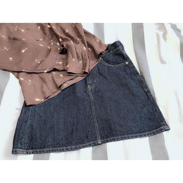 LOWRYS FARM(ローリーズファーム)のローリーズファーム デニムミニスカート レディースのスカート(ミニスカート)の商品写真