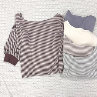 one after another NICE CLAUP - ワンショルダーTシャツ