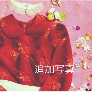 グリモワール(Grimoire)の●追加写真●ヴィンテージ   ベルベットの薔薇 ワンピース(ひざ丈ワンピース)