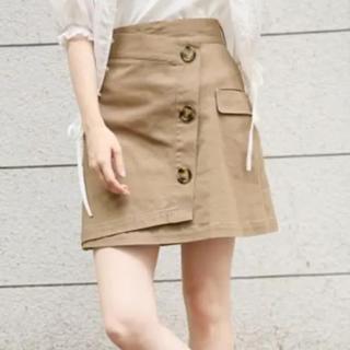 heather - Heather レトロボタン ミニスカート