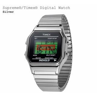 Supreme Timex デジタル 腕時計 シルバー