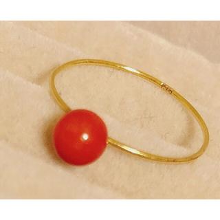 天然赤珊瑚K18 リング 最終値下げ❗️(リング(指輪))