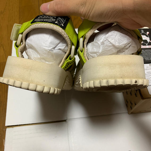 beautiful people(ビューティフルピープル)のSHAKA × ビューティフルピープル コラボサンダル ライムイエロー 8 レディースの靴/シューズ(サンダル)の商品写真