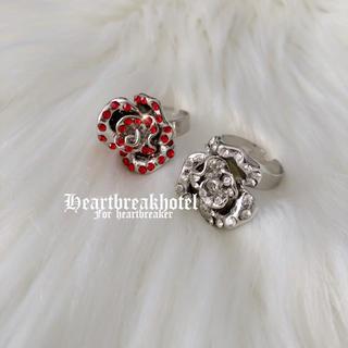 ♥️ Vintage A Shiny Big Rose Ring(リング(指輪))
