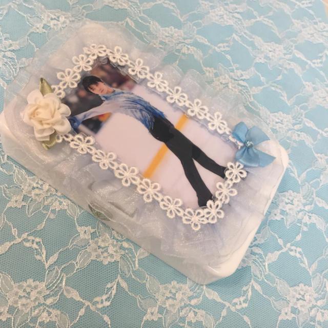 ☆羽生結弦選手 ハンドメイド /ワンタッチ浅型小物ケース レジン☆ ハンドメイドのファッション小物(その他)の商品写真