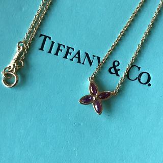 Tiffany & Co. - ティファニー ビクトリアネックレス K18/ルビー