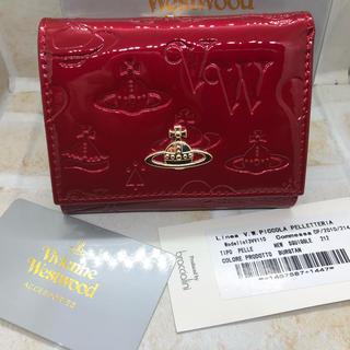 Vivienne Westwood - VivienneWestwood エナメル 三つ折り財布 RED 新品未使用
