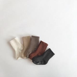 新品 AWリブソックス5足セット 靴下 男の子 女の子 キッズ セット 白