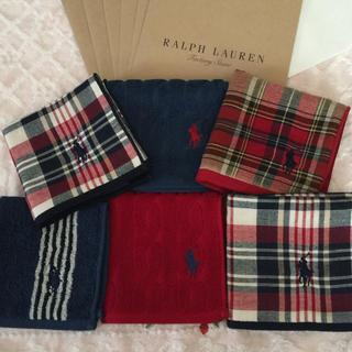 Ralph Lauren - 6枚セット ♥︎ ラルフローレン タオルハンカチ ギフト袋付き