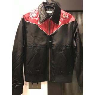 サンローラン(Saint Laurent)のサンローラン 06aw 定価24万 エディ期 薔薇 刺繍 ジャケット テディ(ブルゾン)