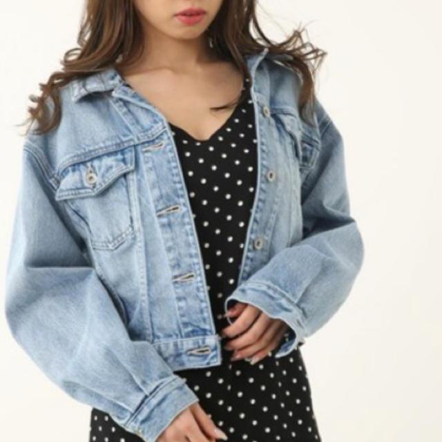 rienda(リエンダ)の2019SSオーバーデニムジャケット レディースのジャケット/アウター(Gジャン/デニムジャケット)の商品写真