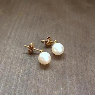 4℃ - パールのピアス  検索:真珠、18金