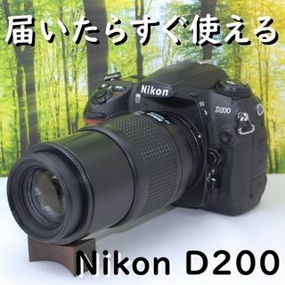 Nikon - 【付属品完備!】ニコン D200望遠レンズセット☆