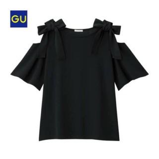 GU - ❤【新品】GU(ジーユー)・リボンショルダーT♪送料無料♪