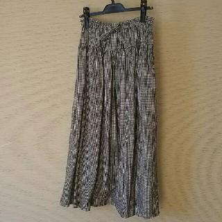 ネストローブ(nest Robe)の☆ina☆ブラックチェックスカート(ロングスカート)