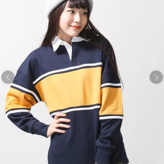 ウィゴー(WEGO)の新品 WEGO カラーパネル ラガースウェット ラガーシャツ ポロシャツ(ポロシャツ)
