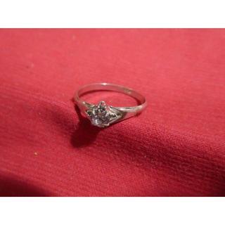 シルバーリング、ピンクの石(リング(指輪))