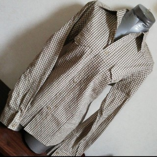 メンズメルローズ(MEN'S MELROSE)のMEN'S MELROSE シワ加工 スクエアチェックシャツ(シャツ)