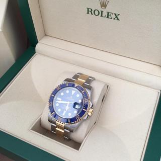 ロレックス(ROLEX)の【美品】ROLEX サブマリーナ コンビ 青文字盤  自動巻き USED (腕時計(アナログ))
