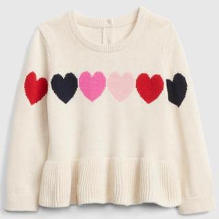 ベビーギャップ(babyGAP)の【新品】babyGap ハート ペプラム セーター(ニット/セーター)