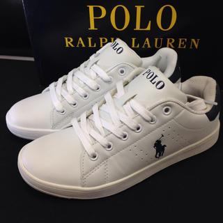 POLO RALPH LAUREN - ポロ ラルフローレン スニーカー レザー(合皮)新品未使用 22.5㎝