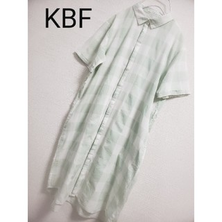 ケービーエフ(KBF)のKBFシャツワンピース(ひざ丈ワンピース)