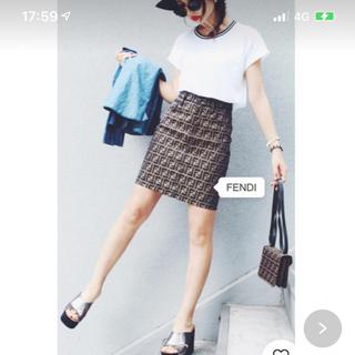 フェンディ(FENDI)のFENDI ズッカ柄スカート(ひざ丈スカート)