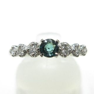 普段使いに最適◎ グランディディエライト0.13ct プラチナ900製指輪(リング(指輪))