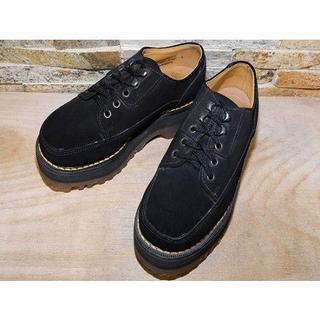 ドクターマーチン(Dr.Martens)のドクターマーチン 厚底 レザーシューズ スエード黒 2222,5cm(ブーツ)