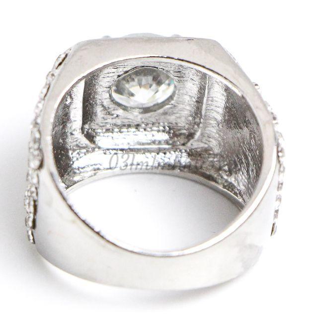 W7 リング 22号 人工石 ホワイトサファイア ラウンド 大きいサイズ レディースのアクセサリー(リング(指輪))の商品写真