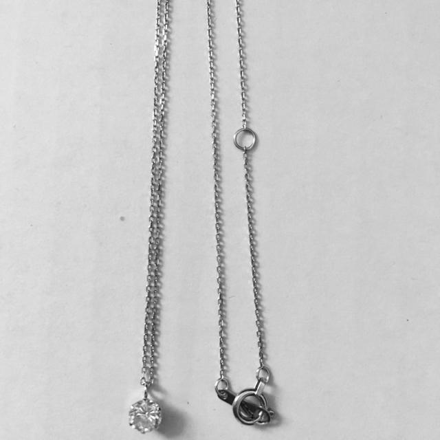 ダイヤモンド ネックレス 0.3 0.4 0.5 一粒 プラチナ wg yg レディースのアクセサリー(ネックレス)の商品写真