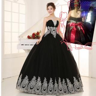 1回のみ使用♡ビジュー付きスタイル抜群カラー ウェディングドレス♡大きいサイズ(ウェディングドレス)