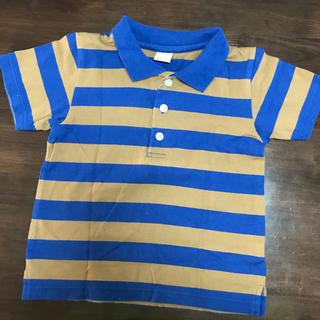 プティマイン(petit main)のpetit main ボーダーポロシャツ 110cm(Tシャツ/カットソー)