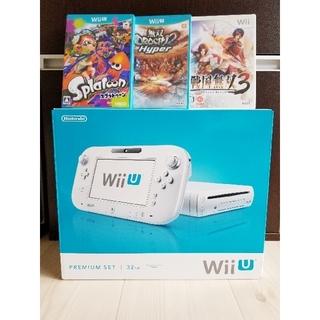 Wii U - 【即購入可】※中古品 ソフト3本付き 傷有り Wii U プレミアムセット
