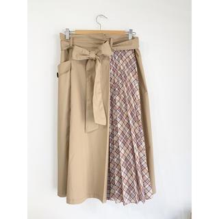 ローズティアラ(Rose Tiara)の♢ローズティアラ Rose Tiara♢プリーツ切り替えトレンチスカート 46(ロングスカート)