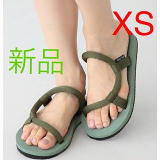 mont bell - XS 完売 限定 モンベル ソックオンサンダル 黒 グリーン