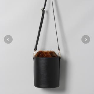 ジーナシス(JEANASIS)のJEANASIS ファー 巾着型 2wayバッグ(ショルダーバッグ)