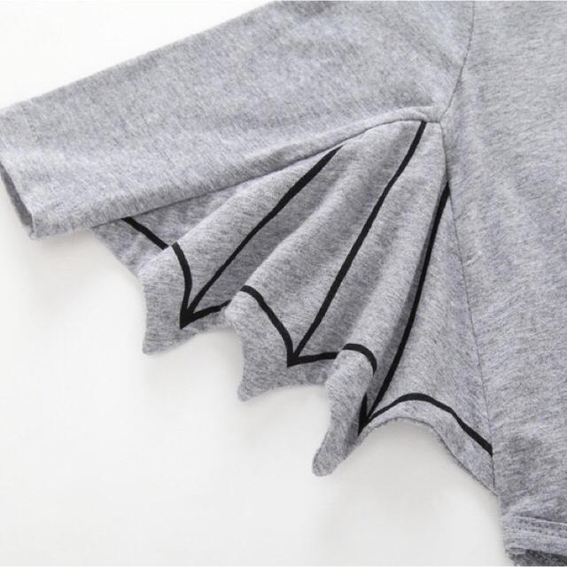 CHA01ベビー服 ハロウィーン衣装 コウモリ ロンパース(3色70-100) キッズ/ベビー/マタニティのベビー服(~85cm)(ロンパース)の商品写真